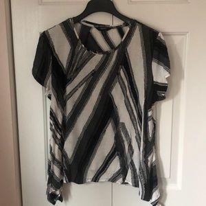 Vera Wang XL black/white/grey dressy t-shirt